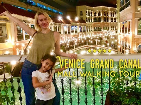 2017 Best Shopping Malls Manila: Venice Grand Canal Mall Mckinley Hill Taguig Walking Tour
