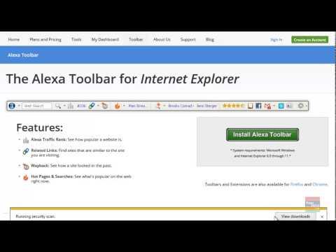 Cara mengunduh Alexa Toolbar untuk Internet Explorer