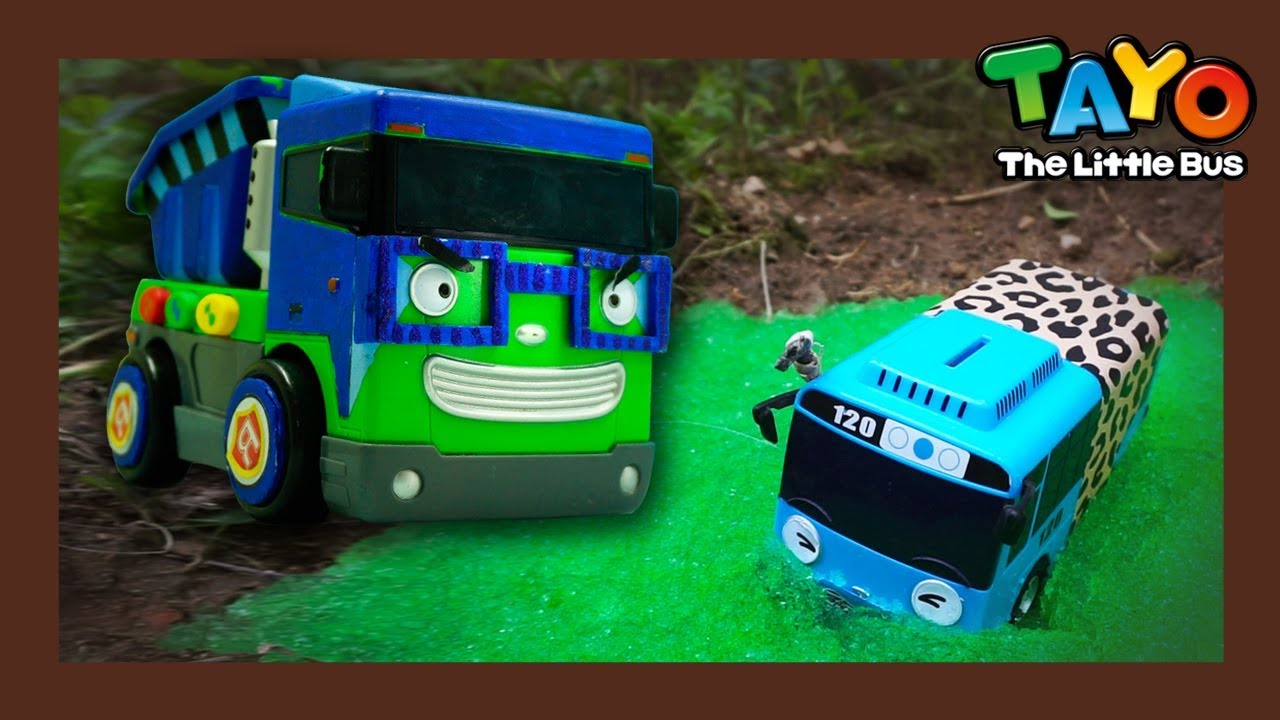 Tayo sank into slime in jungle! l Tayo Heavy Vehicles Squad l Tayo the little bus