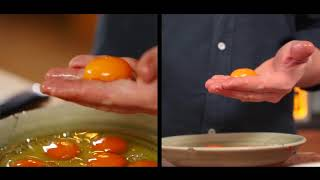 Три способа отделить желток от белка совет от Джейми Оливера