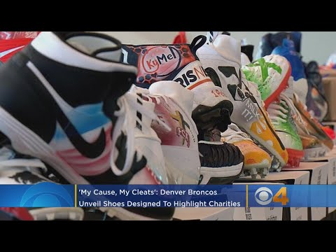 BEARDO - The Broncos unveil their charitable cleats for this week's game in Houston