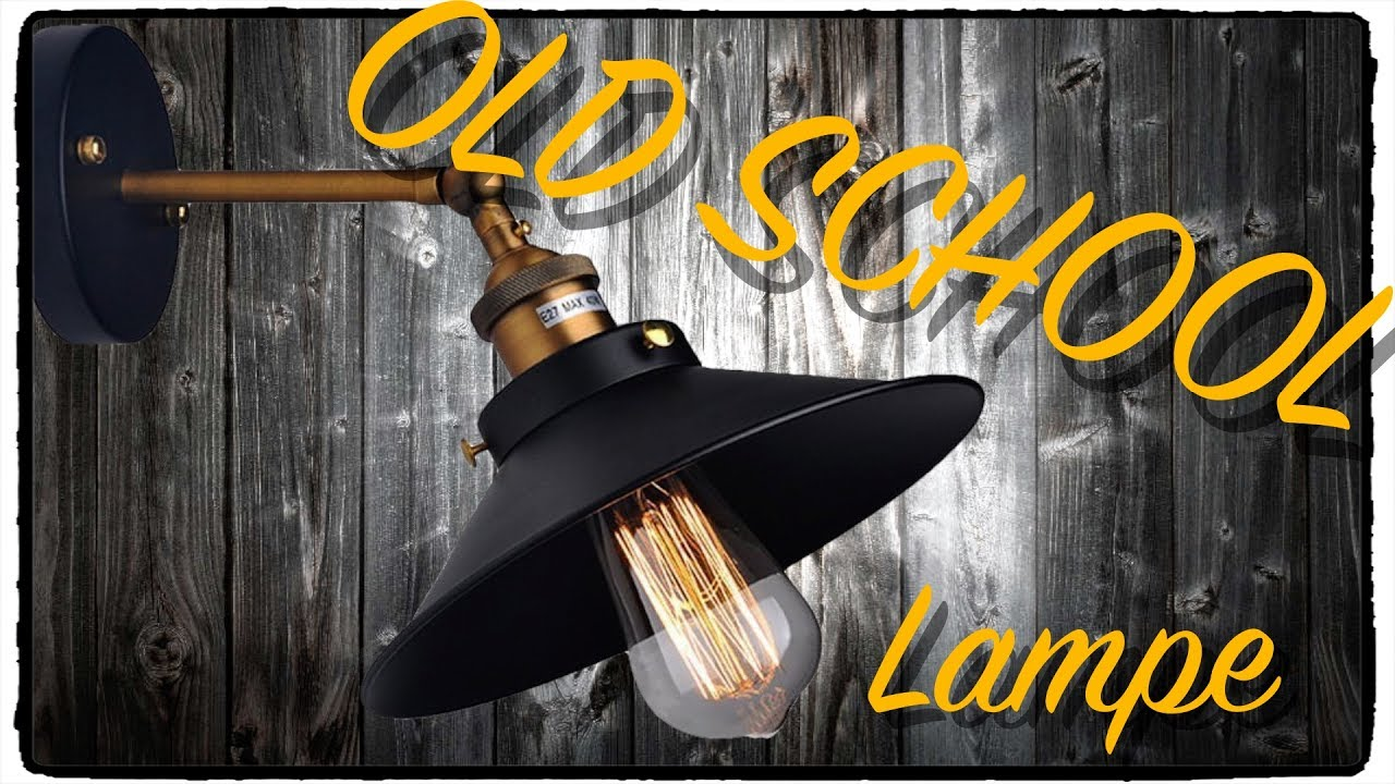 industrie lampe old school look innen beleuchtung test review deutsch youtube. Black Bedroom Furniture Sets. Home Design Ideas