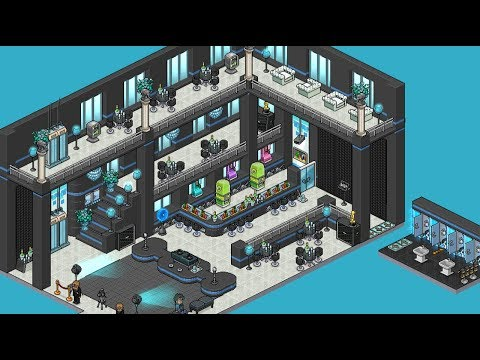 How to BUILD a Habbo Public Lounge!! - YouTube