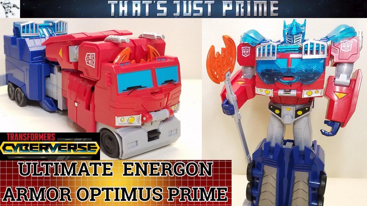 Transformers Cyberverse Ultimate Energon Armor OPTIMUS PRIME!