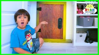 Ryan found a Secret door in the shoe closet!!
