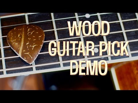 Wood Guitar Pick Demo