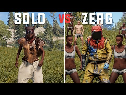 Rust - The SOLO Experience V.S. the ZERG Experience