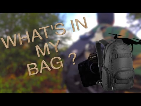 What's in my bag - Alex Black edition (Photo / Vidéo / Drone)