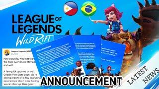 Wild Rift Lastest Update Info   Riot Announcement Alpha Test Server Brazil and Philippines Gameplay
