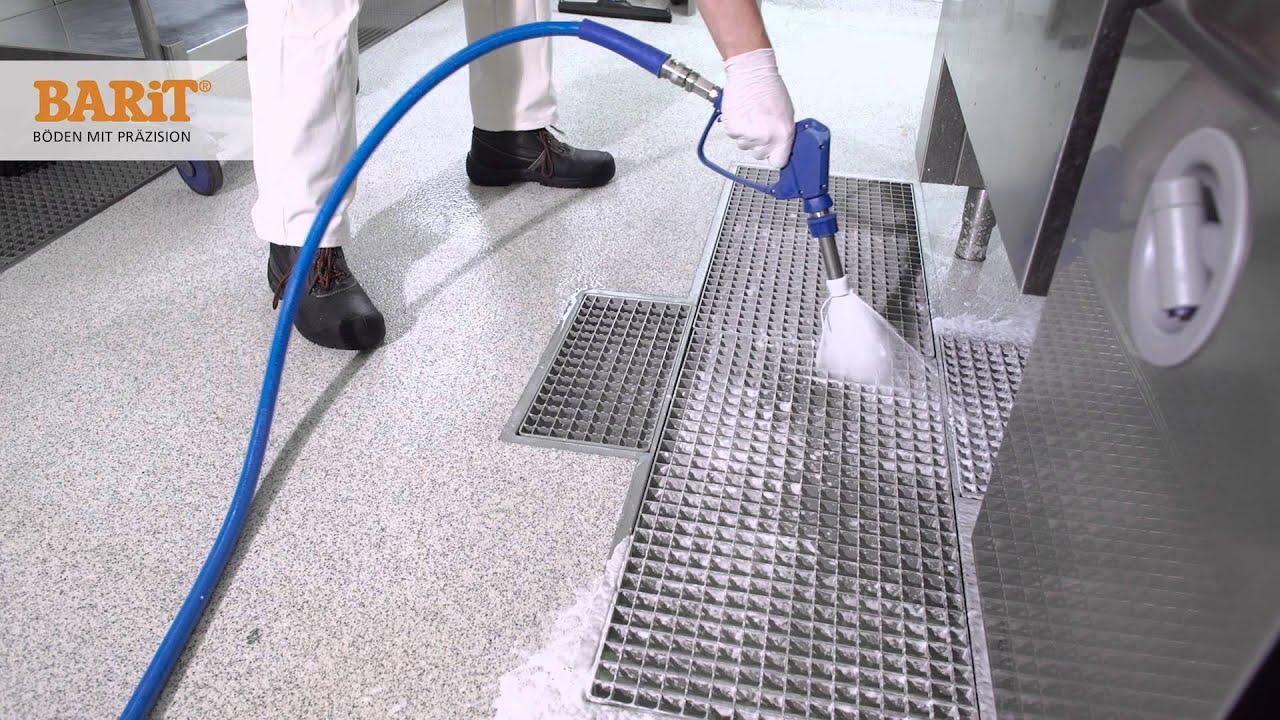 Fußboden In Großküchen ~ Desinfektion und reinigung fugenloser grossküchenböden für haccp