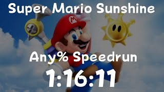 Super Mario Sunshine Any% Speedrun in 1:16:11