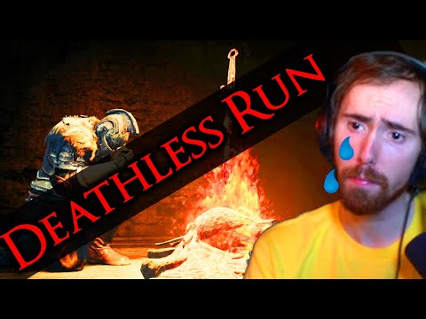 """You're CHEATING"" Asmongold Attempts A Dark Souls Deathless Run - How Long Will He Last?"