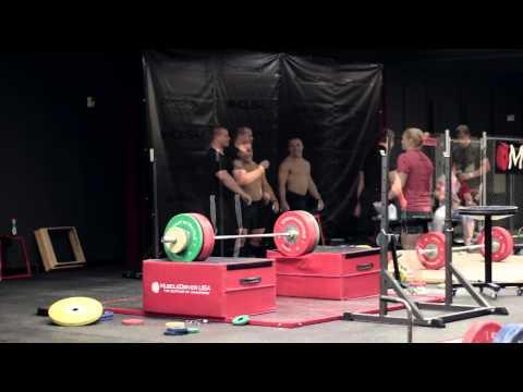 Kaleb Whitby P.R. High Block Snatch (150kg)