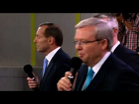 Rudd, Abbott face off in Australian PM election debate ...