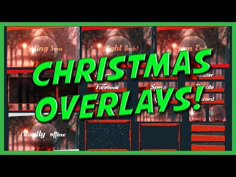 Christmas Animated Overlays - Customize your Twitch Channel