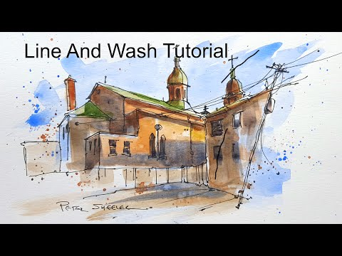 A Line And Wash Demonstration Of My Urbansketching Techniques A Fun And Simple Approach Youtube