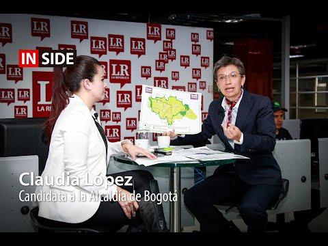 Claudia López, candidata a la Alcaldía de Bogotá en Inside LR