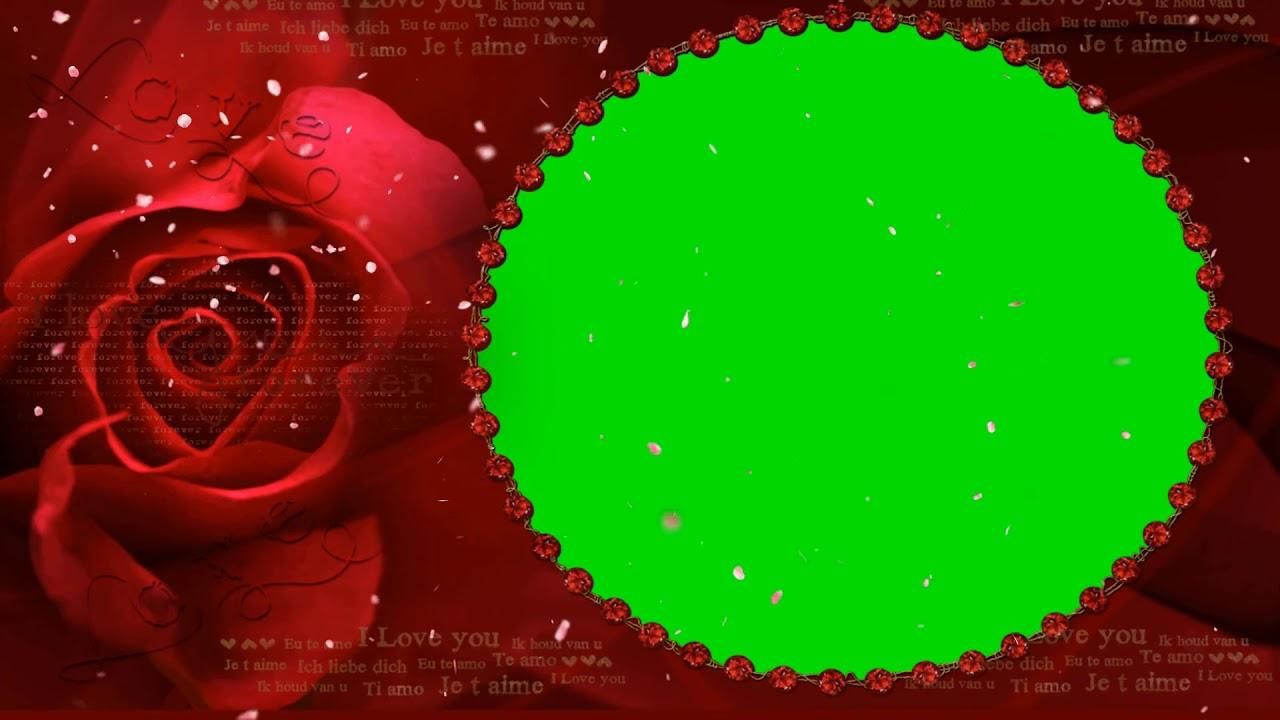 Green Screen Red Rose Frame