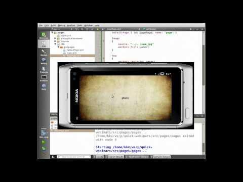 Вебинары по QML и QtQuick: страничная организация UI - YouTube