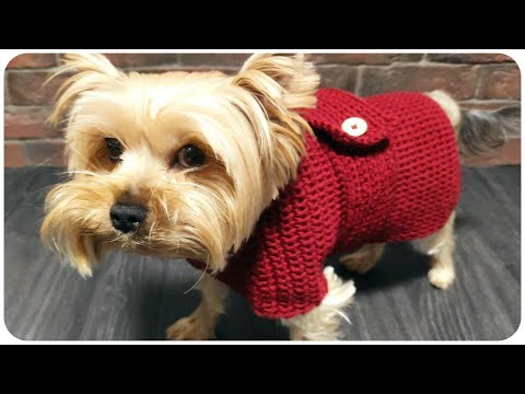 Вязаная одежда крючком для маленьких собак