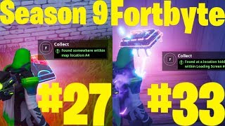 Fortbyte #27 and #33 Found at map location A4 and hidden within Loading Screen #10