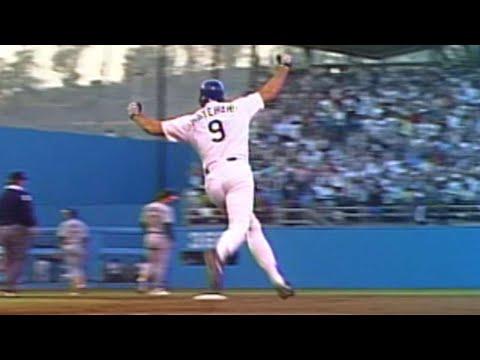 WS1988 Gm1: Hatcher homers, sprints around bases