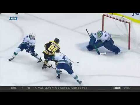 David Pastrnak end to end goal 10/19/17