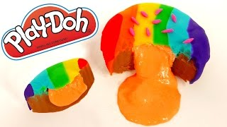 play doh slime jelly donut how to make play dough food