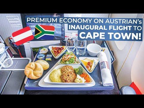 TRIPREPORT | Austrian Airlines (PREMIUM ECONOMY) | INAUGURAL FLIGHT Vienna - Cape Town | Boeing 777