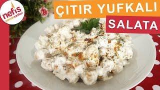 Çıtır Yufkalı Tavuklu Nohut Salatası - Gün Salatası Tarifleri - Nefis Yemek Tarifleri