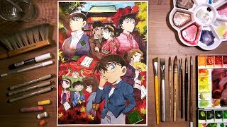 Detective Conan (名探偵コナン) - watercolor painting | drawholic