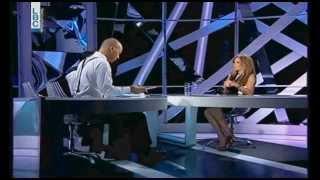 نيكول سابا تتكلم عن تامر حسني - في برنامج المتهم (2014)