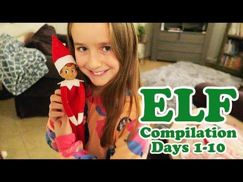 30 Days of Elf on the Shelf Compilation Days 1-10 Videos