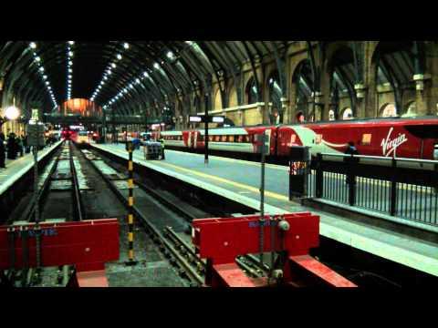 Trains arriving at Platforms 4, 5 London King's Cross station