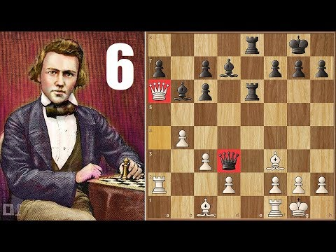 Legendary Game 6! || Paulsen vs Morphy (1857) || 1st American Chess Congress