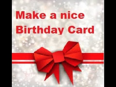 Make a birthday card using MS Word - YouTube