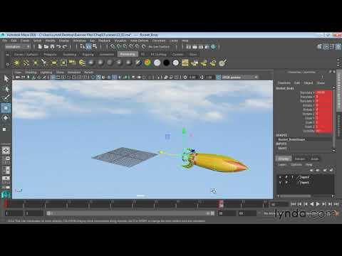 88. Анимация объектов с помощью Ключа. Курс Maya для начинающих. Урок №88