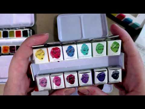 Jane Davenport Watercolor Set Bright Palette Unboxing and Swatching (WARNING: SNARK AHEAD)