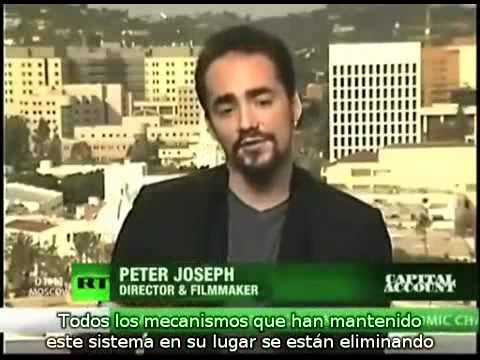 Peter Joseph en RT: Desempleo, deuda, consumismo y una Economia Basada en Recursos como solución.