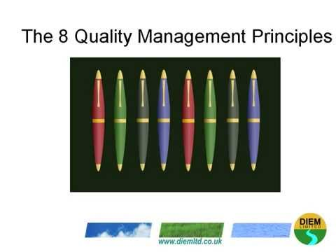 The 8 Principles Of Quality Management For ISO 9001