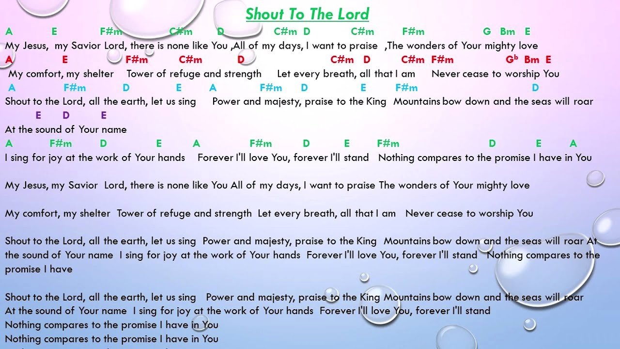 Shout to the lord chord with lyrics youtube shout to the lord chord with lyrics hexwebz Images