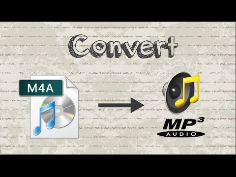 How to convert M4A file to MP3 format