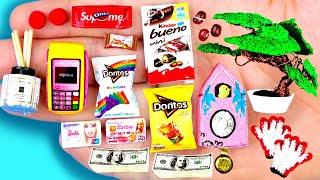 12 EASY REALISTIC DIY MINIATURE BARBIE IDEAS ~ Mini card swipe machine, timepiece, doritos and more!