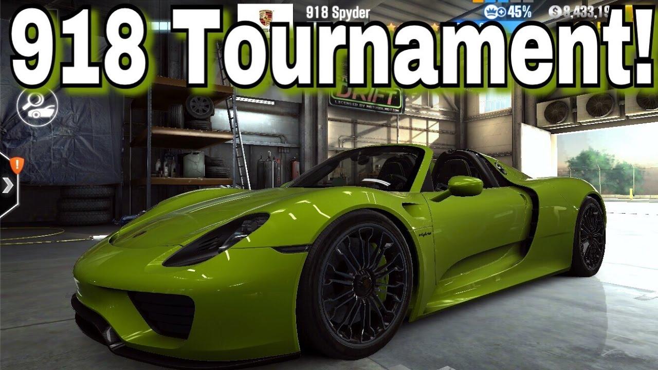 tournament tuesday porsche 918 spyder 1 2 mile drag race. Black Bedroom Furniture Sets. Home Design Ideas
