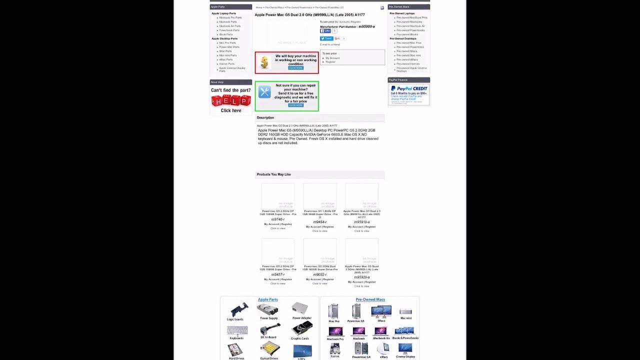m9590ll a Apple Power Mac G5 Dual 2 0 GHz M9590LL A Late 2005 A1177 ...