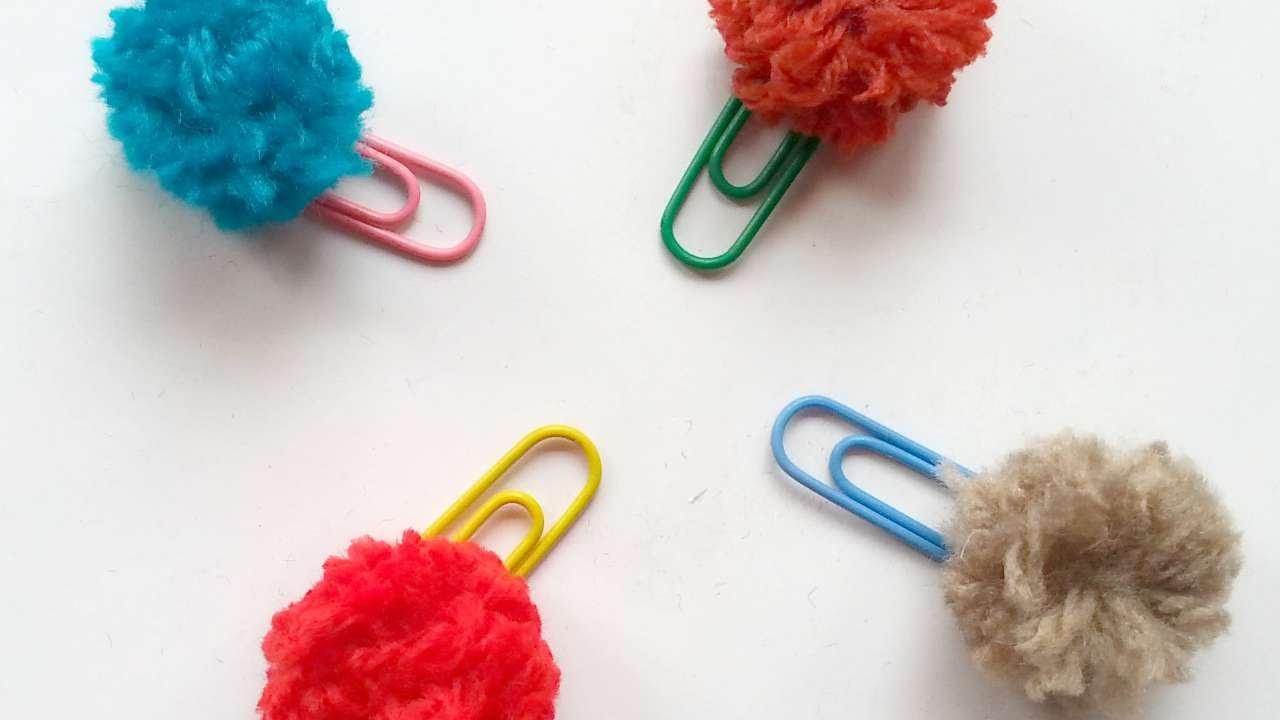 How To Make Pretty Pompom Paper Clip Diy Crafts Tutorial