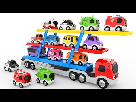 Thumbnail: Colors for Children to Learn with Car Transporter Toy Street Vehicles - Colors Collection