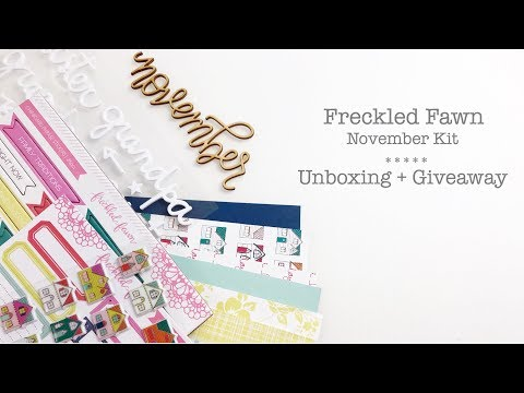 Freckled Fawn Unboxing + Giveaway | Traveler's Notebook Process Layout