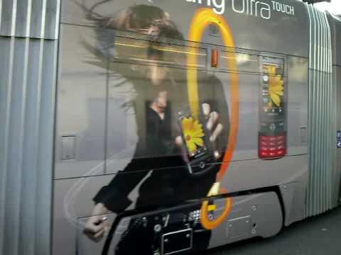 Samsung AD Tram in Geneva