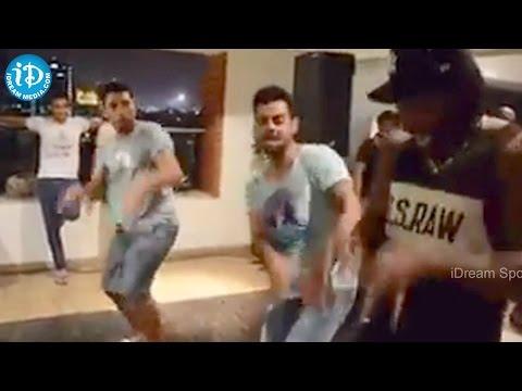 Chris Gayle Dancing with Yuvraj Singh & Virat Kohli - Gangnam Style